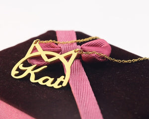 Personalized Kitty Name Necklace