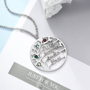 Family Tree Name Necklace Family Tree Name Necklace - dailypersonalized.comJewelOra
