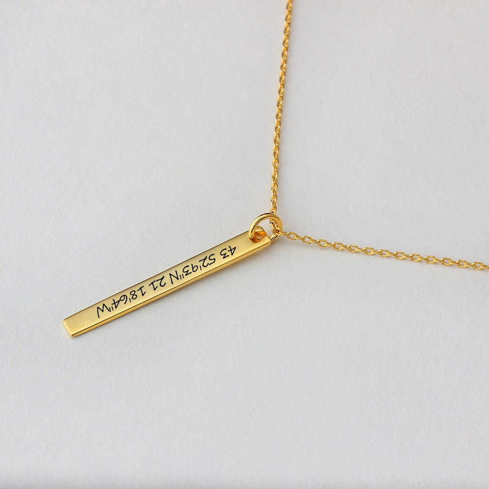 Personalized Firix Bar Necklaces Personalized Firix Bar Necklaces - dailypersonalized.comJewelOra