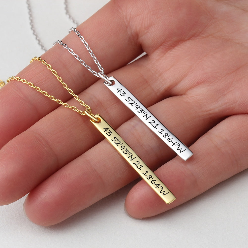 Personalized Firix Bar Necklaces