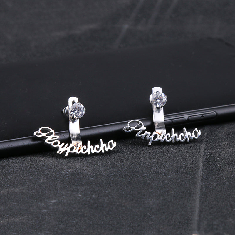 Personalized Gem Name Earrings Personalized Gem Name Earrings - dailypersonalized.comDODOAI Store 925 Silver Plated