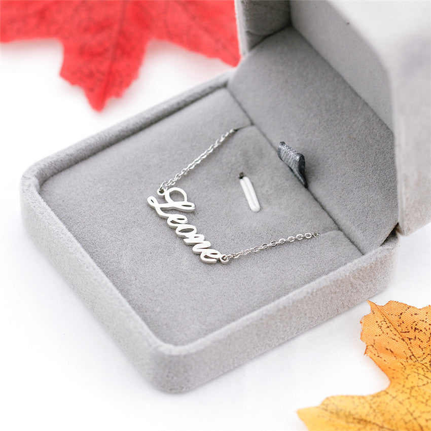 Personalized Double Name Necklaces Personalized Double Name Necklaces - dailypersonalized.comV Attract Official Store