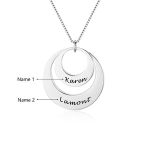 Personalized Double Round Engraved Name Necklace Personalized Double Round Engraved Name Necklace - dailypersonalized.comJewelOra