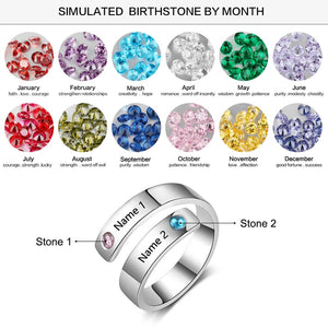 Personalized Ring 2 Birthstone Personalized Ring 2 Birthstone - dailypersonalized.comJewelOra