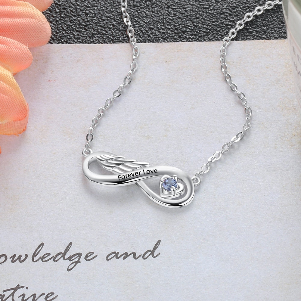 Personalized Wing Name Necklace