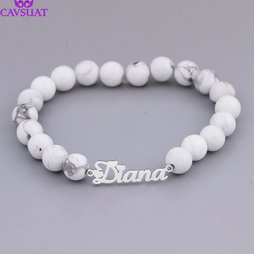 Personalized Beads Name Bracelet Personalized Beads Name Bracelet - dailypersonalized.comCAVSUAT Store 925 Silver Plated