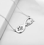 Personalized Infinity Dog Paw Necklace
