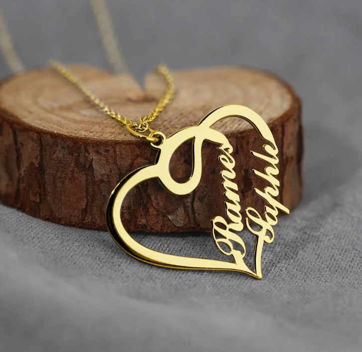 Personalized Heart Necklace Personalized Heart Necklace - dailypersonalized.comDailyPersonalized.com 18K Gold Plated