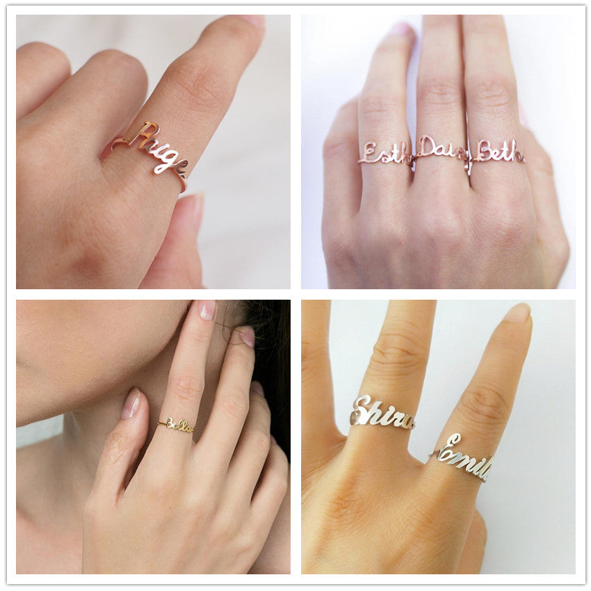 Personalized Ring Name Personalized Ring Name - dailypersonalized.comV Attract Official Store