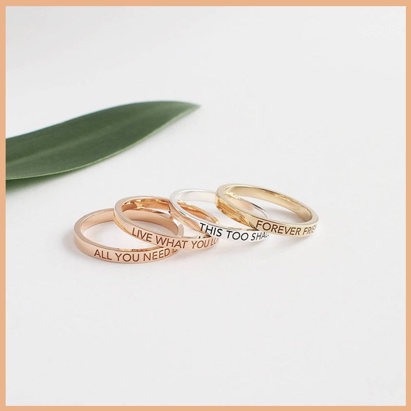 Personalized Sleek Name Ring Personalized Sleek Name Ring - dailypersonalized.comStrollGirl Official Store 6 / 18K Rose Gold Plated