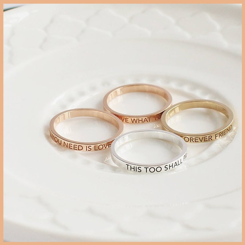Personalized Sleek Name Ring Personalized Sleek Name Ring - dailypersonalized.comStrollGirl Official Store