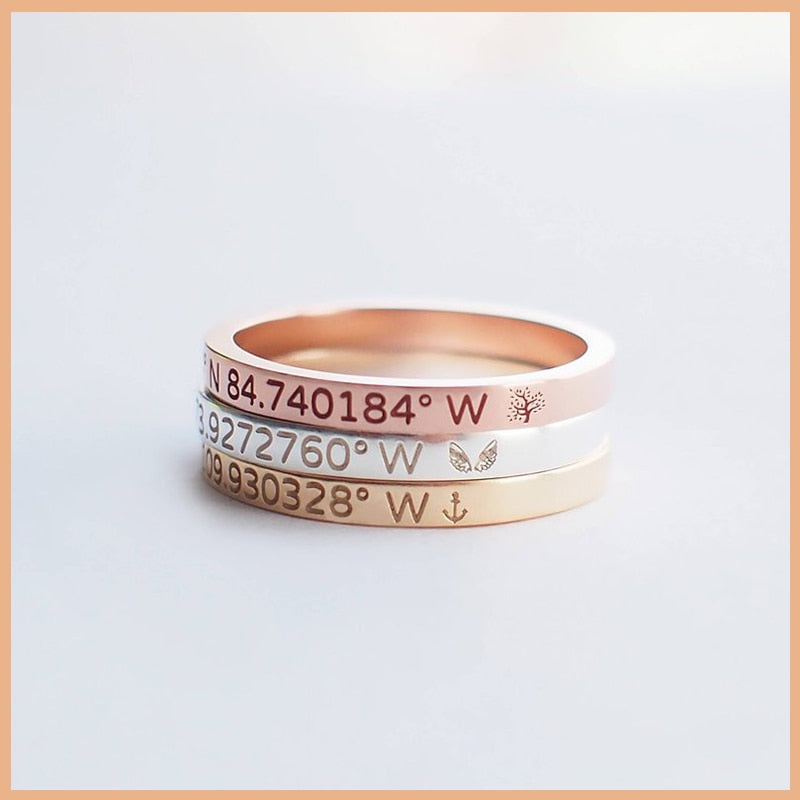 Personalized Sleek Name Ring Personalized Sleek Name Ring - dailypersonalized.comStrollGirl Official Store 6 / 18K Gold Plated