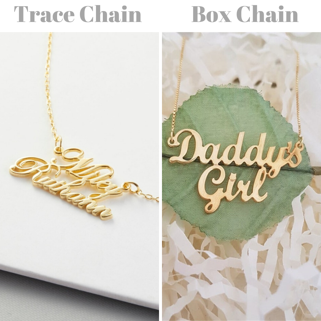 Personalized Double Name Necklaces