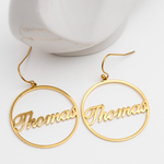 Personalized Circuli Name Earrings Personalized Circuli Name Earrings - dailypersonalized.comAOY Store
