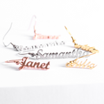 Personalized Firlum Name Earrings Personalized Firlum Name Earrings - dailypersonalized.comIcftZwe Store 925 Silver Plated / 1 Name (1 Pair)
