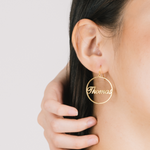Personalized Circuli Name Earrings Personalized Circuli Name Earrings - dailypersonalized.comAOY Store 18K Gold Plated