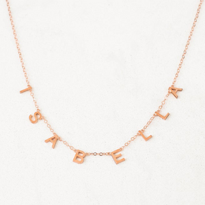 Personalized Letras Necklace Personalized Letras Necklace - dailypersonalized.comDOREMI Store