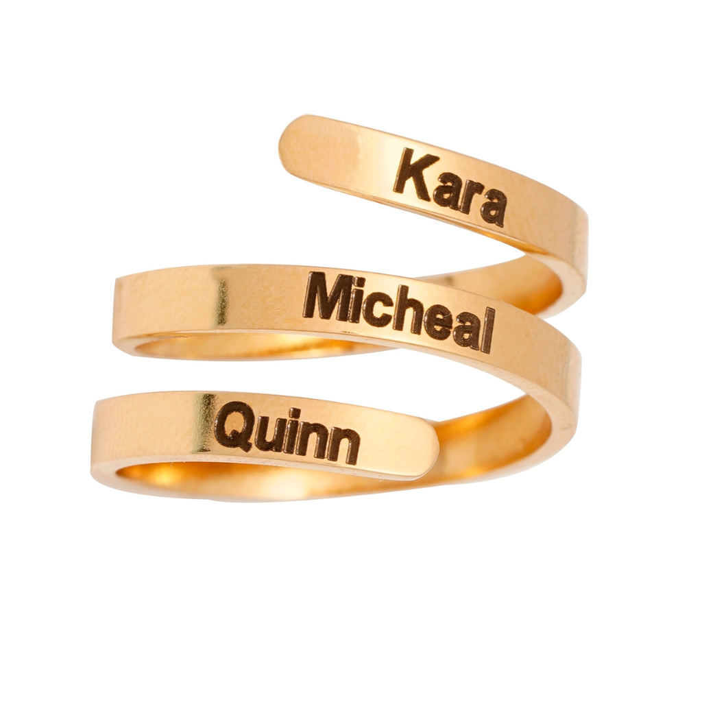 Personalized Adjustable 3 Name Ring Personalized Adjustable 3 Name Ring - dailypersonalized.comPAONCEI Official Store