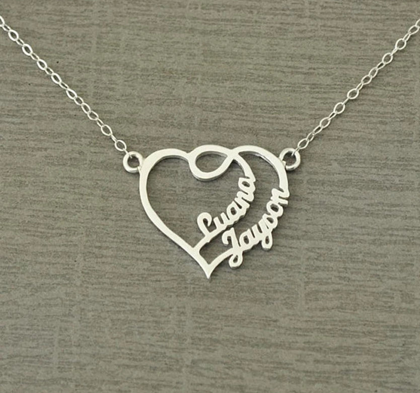Personalized Heart Necklace Personalized Heart Necklace - dailypersonalized.comDailyPersonalized.com Silver Plated 925