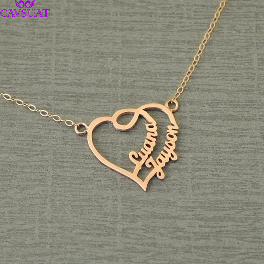Personalized Heart Necklace Personalized Heart Necklace - dailypersonalized.comDailyPersonalized.com 18K Rose Gold Plated
