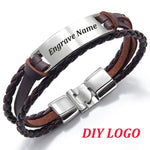 Personalized Leather Bracelet Personalized Leather Bracelet - dailypersonalized.comdailypersonalized.com Brown