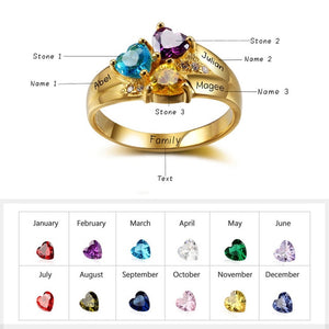 Personalized Glittering Ring Personalized Glittering Ring - dailypersonalized.comJewelOra 5 / 3 Names / 18K Gold Plated