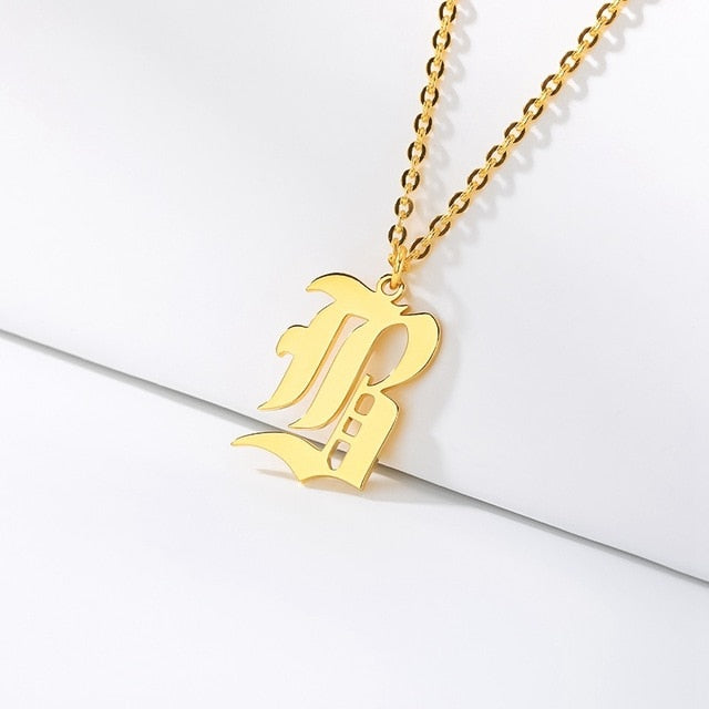 Initial Necklaces Initial Necklaces - dailypersonalized.comCAVSUAT Store B / Gold Plated