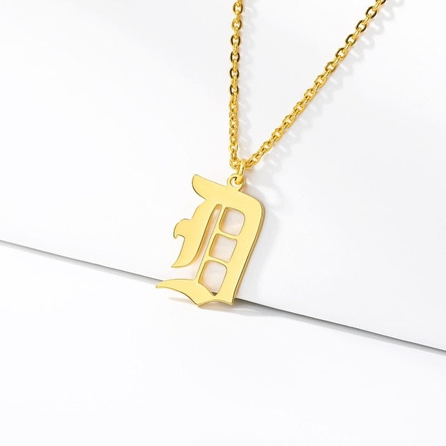 Initial Necklaces Initial Necklaces - dailypersonalized.comCAVSUAT Store D / Gold Plated