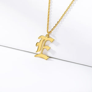 Initial Necklaces Initial Necklaces - dailypersonalized.comCAVSUAT Store E / Gold Plated