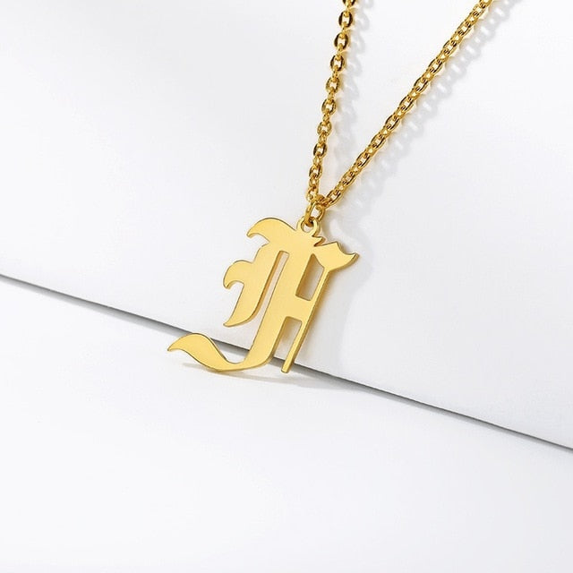 Initial Necklaces Initial Necklaces - dailypersonalized.comCAVSUAT Store F / Gold Plated