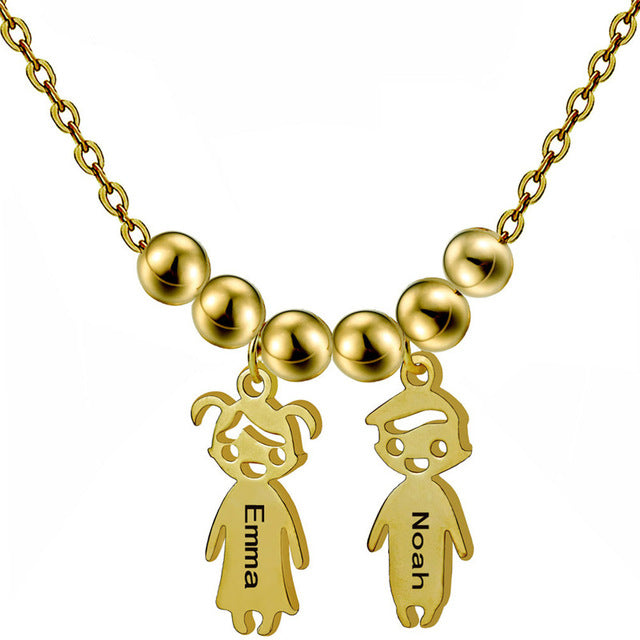 Personalized Boys Girl Neklaces Personalized Boys Girl Neklaces - dailypersonalized.comSporting Jewellery Store Gold Custom / 1 Person
