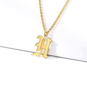 Initial Necklaces Initial Necklaces - dailypersonalized.comCAVSUAT Store H / Gold Plated