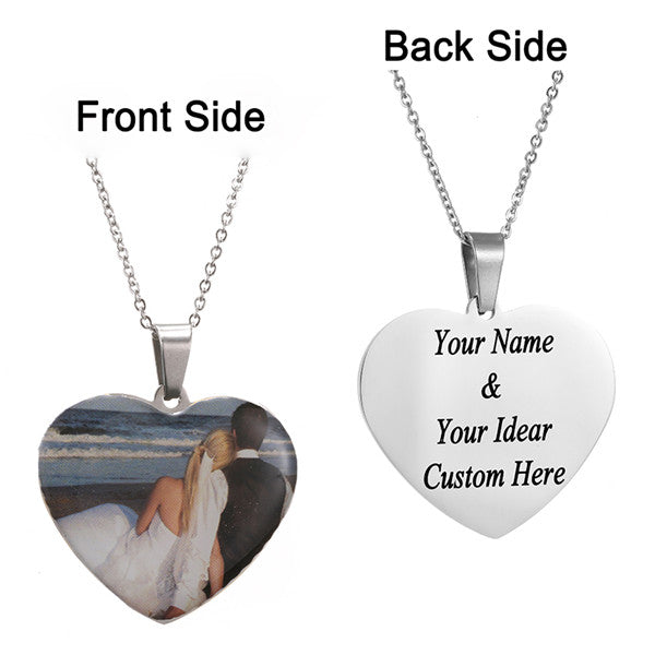 Personalized Charm Photo Necklaces Personalized Charm Photo Necklaces - dailypersonalized.comAMORUI Jewelrys Store Silver Plated Love / 40 Cm