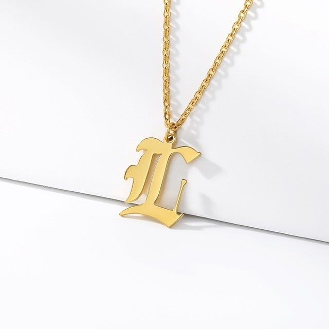 Initial Necklaces Initial Necklaces - dailypersonalized.comCAVSUAT Store L / Gold Plated