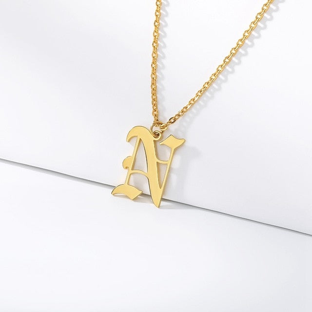 Initial Necklaces Initial Necklaces - dailypersonalized.comCAVSUAT Store N / Gold Plated