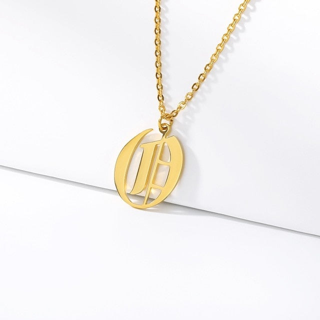 Initial Necklaces Initial Necklaces - dailypersonalized.comCAVSUAT Store O / Gold Plated