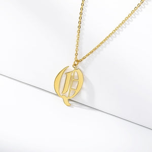 Initial Necklaces Initial Necklaces - dailypersonalized.comCAVSUAT Store Q / Gold Plated