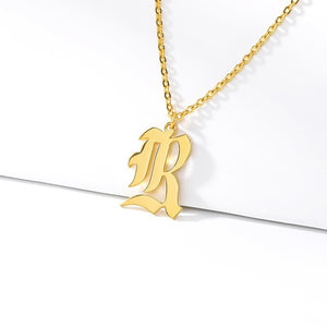 Initial Necklaces Initial Necklaces - dailypersonalized.comCAVSUAT Store R / Gold Plated