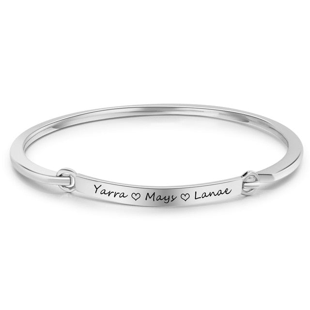 Personalized Lucet Name Bracelets Personalized Lucet Name Bracelets - dailypersonalized.comJewelOra 925 Silver Plated