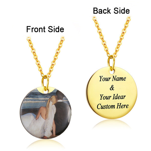 Personalized Charm Photo Necklaces Personalized Charm Photo Necklaces - dailypersonalized.comAMORUI Jewelrys Store Gold Plated Round / 40 Cm