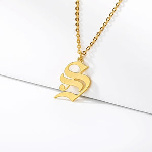 Initial Necklaces Initial Necklaces - dailypersonalized.comCAVSUAT Store S / Gold Plated