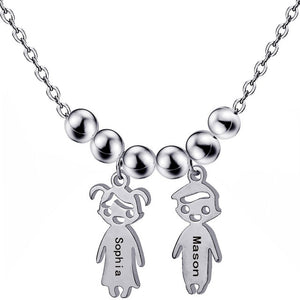 Personalized Boys Girl Neklaces Personalized Boys Girl Neklaces - dailypersonalized.comSporting Jewellery Store Silver Custom / 1 Person