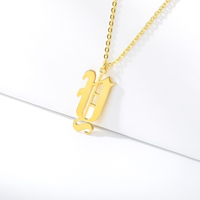 Initial Necklaces Initial Necklaces - dailypersonalized.comCAVSUAT Store Y / Gold Plated