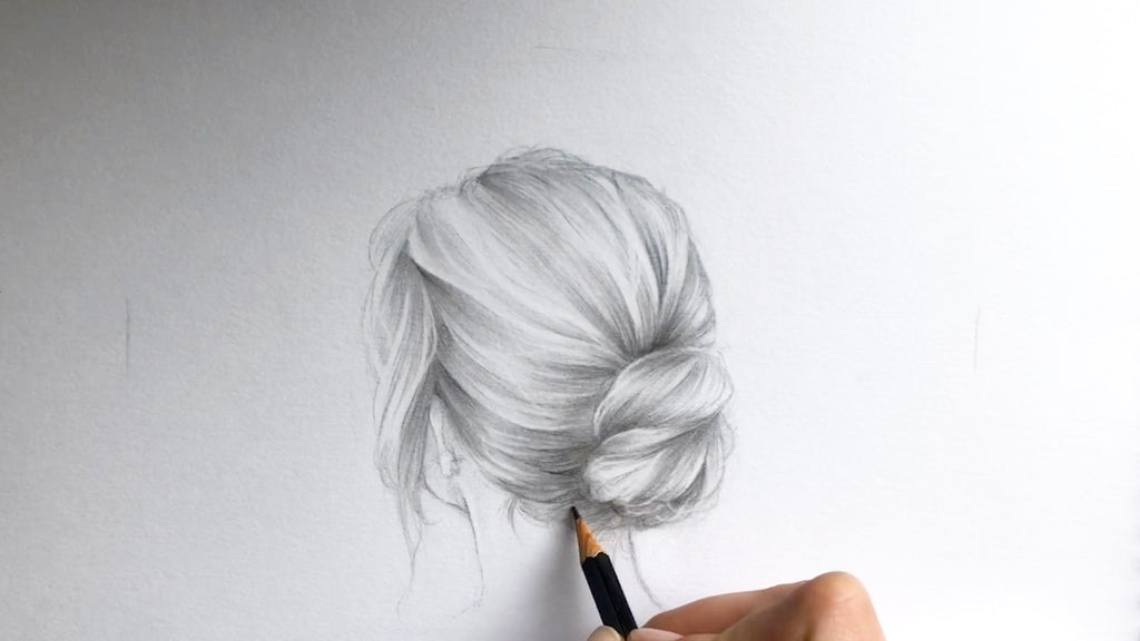 Full Tutorial of Drawing Hair Step by Step in Graphite with Annelies Bes