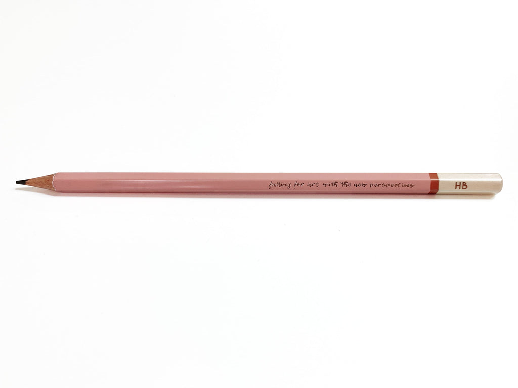 1 pc - The Eye Graphite Sketching Pencil - Pink X Rose Gold