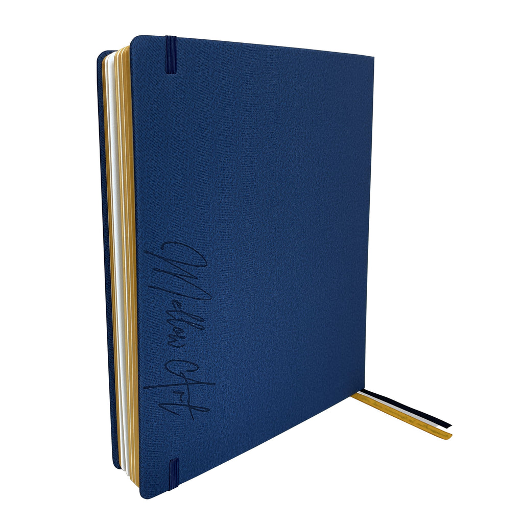 Mellow Art A4 Watercolour Sketchbook - Navy (Personalized)