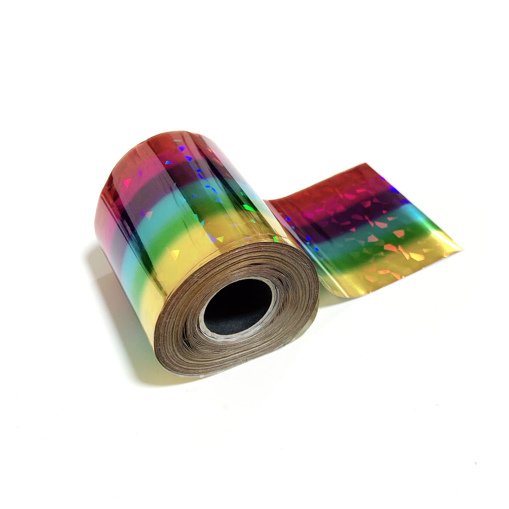 Gradient Glass Rainbow Metallic Foil for Paper, Card, Wood
