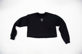 "black crewneck ""be you not them"""