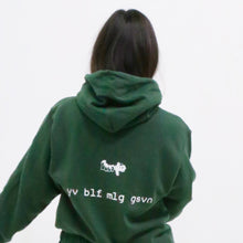 "Load image into Gallery viewer, green ""be you not them"" Champion hoodie"