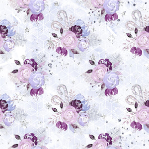 PRE ORDER Lavender Christmas Floral Fabric
